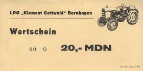 """L.014a.1/4 LPG Bornhagen """"Klement Gottwald"""" 10 - 100 MDN (1)"""