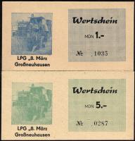 """L.047.1/9 LPG Großneuhausen """"8.März"""" 0,10 MDN - 1000 MDN (1)"""