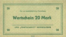 "L.054.1/4 LPG Hedersleben ""Fortschritt"" 10 - 100 Mark (1)"