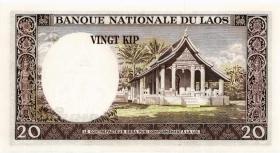 Laos P.11a 20 Kip (1963) (1)