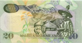 Lesotho P.16b 20 Maloti 1999 (1)
