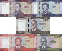 Liberia P.31/35  5 - 100 Dollars 2016 (1)