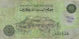 Libyen / Libya P.61b 10 Dinars (1991) (3-)