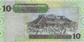 Libyen / Libya P.70b 10 Dinar (2004) (1)