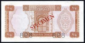 Libyen / Libya P.33s 1/4 Dinar (1972) Specimen (1/1-)