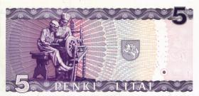 Litauen / Lithuania P.55a 5 Litai 1993 (1)