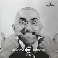 Litauen Euro-KMS 2021 im Folder