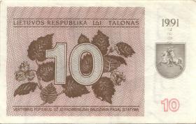 Litauen / Lithuania P.35b 10 (Talonas) 1991 (1/1-)