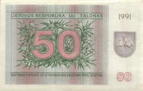 Litauen / Lithuania P.37b 50 (Talonas) 1991 (1)