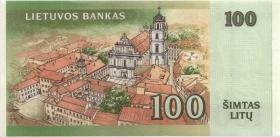 Litauen / Lithuania P.62 100 Litu 2000 Serie AA (1)