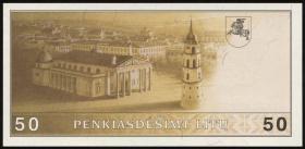 Litauen / Lithuania P.49a 50 Litu 1991 (1993) (1)