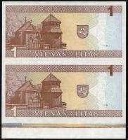 Litauen / Lithuania P.53a 1 Litas 1994 Paar / Pair (1)