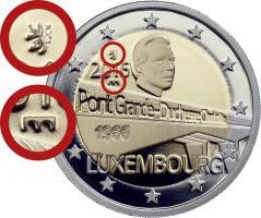 Luxemburg 2 Euro 2016 50 Jahre Großherzogin-Charlotte-Brücke PP - Mzz. Löwe & Brücke