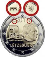 Luxemburg 2 Euro 2017 50 Jahre Freiwilligen-Armee PP - Mzz. Löwe & Brücke