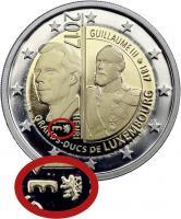 Luxemburg 2 Euro 2017 Guillaume III. PP - Mzz. Löwe & Brücke
