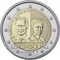 Luxemburg 2 Euro 2019 100. Jahrestag der Thronbesteigung Großherzogin Charlotte Coincard