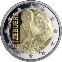 Luxemburg 2 Euro 2020 Geburt Prinz Charles PP