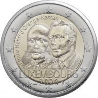 Luxemburg 2 Euro 2020 200. Geburtstag Prinz Henri von Oranien-Nassau Coincard