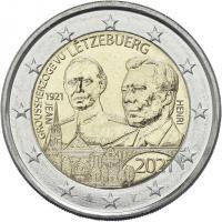 Luxemburg 2 x 2 Euro 2021 100. Geburtstag des Großherzogs Jean