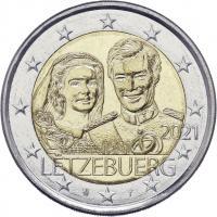 Luxemburg 2 x 2 Euro 2021 40. Hochzeitstag des großherzoglichen Paares