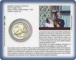 Luxemburg 2 Euro 2021 40. Hochzeitstag des großherzoglichen Paares Coincard
