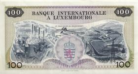 Luxemburg / Luxembourg P.14 100 Francs 1968 (1-)
