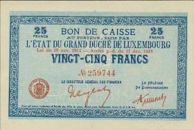 Luxemburg / Luxembourg P.31b 25 Franken 1918 (1)