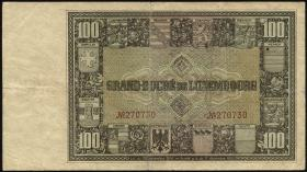 Luxemburg / Luxembourg P.36 100 Francs (1927) (3-)