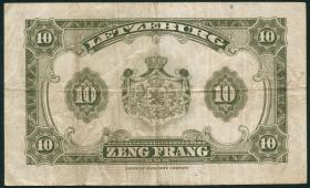 Luxemburg / Luxembourg P.44a 10 Francs (1944) (3)