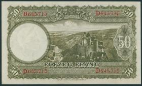 Luxemburg / Luxembourg P.46 50 Francs (1944) (1)