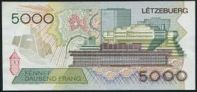 Luxemburg / Luxembourg P.60a 5000 Francs 1993 (3+)