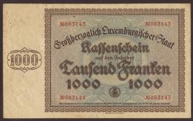 Luxemburg / Luxembourg P.40a 1000 Francs 1939 (3-)