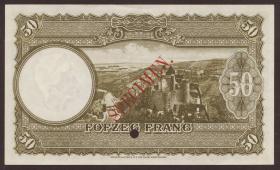 Luxemburg / Luxembourg P.46s2 50 Francs (1944) Specimen (1/1-)