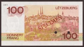 Luxemburg / Luxembourg P.57s 100 Francs 1980 Specimen (1)
