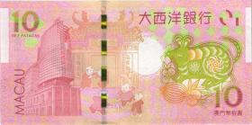 Macau / Macao 10 Patacas 2020 + 2021 (1) Ultramarino