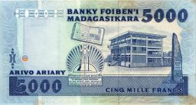 Madagaskar P.73 5000 Francs = 1000 Ariary (1988-93) (1-)