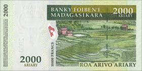 Madagaskar P.93  2000 Ariary (2007) Gedenkbanknote (1)