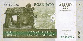 Madagaskar P.86b-89b 100 - 1000 Ariary 2004 Satz (1)