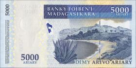 Madagaskar P.94  5000 Ariary (2008) Gedenkbanknote (1)