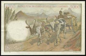 Madagaskar P.54 1000 Francs = 200 Ariary (1961) (3+)