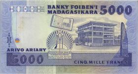 Madagaskar P.69a 5000 Francs = 1000 Ariary (1983-87) (1/1-)