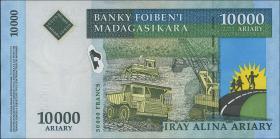 "Madagaskar P.92a 10000 Ariary (2006) mit ""Francs"" (1)"