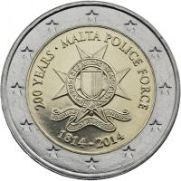 Malta 2 Euro 2014 200 Jahre Polizei