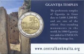 Malta 2 Euro 2016 Ggantija Tempel Coincard