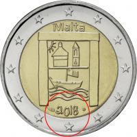 Malta 2 Euro 2018 Kulturerbe Coincard