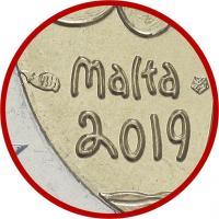 Malta 2 Euro 2019 Natur Coincard