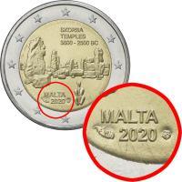 Malta 2 Euro 2020 Skorba Tempel in Coincard