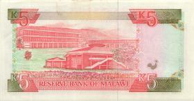 Malawi P.24a 5 Kwacha 1990 (1-)