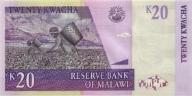 Malawi P.52e 20 Kwacha 2009 (1)