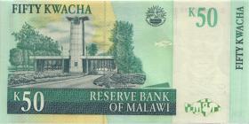 Malawi P.53c 50 Kwacha 2007 (1-)